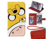 iPhone 6/6s Plus Wallet Case[5.5 inch],Adventure Time With Finn And Jake Image Magnetic PU Leather Protective Case with Card Holder for iPhone 6/6s Plus 9SIA4783X58000