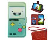 Samsung Galaxy Note 4 Wallet Case,Adventure Time With Finn And Jake Image Magnetic PU Leather Protective Case with Card Holder for Samsung Galaxy Note 4 9SIA4783X58185