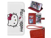 iPhone 6/6s Plus Wallet Case[5.5 inch],Cute Hello Kitty Magnetic PU Leather Protective Case with Card Holder for iPhone 6/6s Plus 9SIA4783X60554