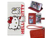 iPhone 6/6s Plus Wallet Case[5.5 inch],Cute Hello Kitty Magnetic PU Leather Protective Case with Card Holder for iPhone 6/6s Plus 9SIA4783X60580