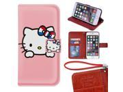 iPhone 6/6s Plus Wallet Case[5.5 inch],Cute Hello Kitty Magnetic PU Leather Protective Case with Card Holder for iPhone 6/6s Plus 9SIA4783X60591