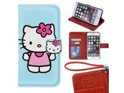 iPhone 6/6s Plus Wallet Case[5.5 inch],Cute Hello Kitty Magnetic PU Leather Protective Case with Card Holder for iPhone 6/6s Plus 9SIA4783X60603