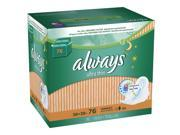 Always Ultra Thin Overnight Pads With Wings, Unscented, 76 Count