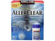 Kirkland Signature  AllerClear  Non-Drowsy, 365 Tablets