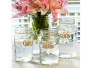 Two Hearts Mason Jar Centerpieces Set of 4