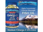 Pure Alaska Omega-3 500 mg. EPA+DHA, 180 Softgels