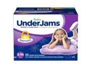 Pampers UnderJams Bedtime Underwear for Girls Size S/M - 50 ct.