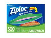 Ziploc Easy Open Tabs Sandwich Bags 500ct.