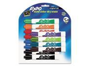 EXPO Dry Erase Markers, Assorted Colors Chisel Tip 12 ct.