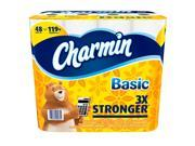 Charmin Basic 1-Ply Toilet Paper, 48 giant rolls