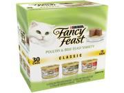 Purina Fancy Feast Classic Poultry and Beef Feast Variety Cat Food 30 3 oz. Cans