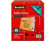 """Scotch Bubble Mailers, size 2, 8.5"""" x 11"""", 25pk."""