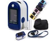 CONTEC CMS50DL Pulse Oximeter Fingertip Blood Oxygen Monitor SpO2 Probe and Processing Display Module Dark Blue