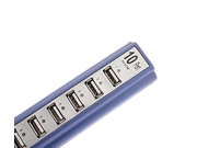 10-Port USB 2.0 High Speed Hub with Charger