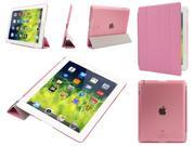 Magnetic Ultra Thin Smart Cover Back Case For Apple Ipad 3 Sleep Wake Up Pink Color Free gifts US ship