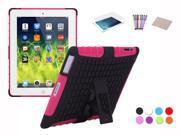 Hybrid Silicone & TPU Hard Kickstand Heavy Duty Dual Layer Cover Case For Apple iPad 2/ iPad 3/ iPad 4  + Film + Stylus + Cloth