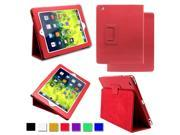 PU Leather Flip Case Magnetic Folio Smart Cover [Wake/Sleep Function] for Apple iPad 2 / iPad 3 (The New iPad) / iPad 4 (iPad with Retina Display) + Screen Protector + Stylus + Cleaning Cloth
