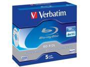 VERBATIM 5 x BD-R DL - 50 GB 6x - jewel case