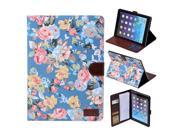 Apexel Calico Pattern Good Quality New Leather Protective Case with Card Slot for iPad Mini 2/ iPad Mini 3 with Retina Display (2nd Generation) Blue