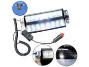 HQRP 8 LED Dash Strobe Fog Flash Emergency Warning White Light Bar with 4 Suction Cups + HQRP Coaster 9SIA4AE6DZ6653