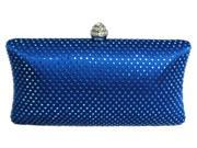 Chicastic Royal Blue Rhinestone Crystal Hard Box Wedding Evening Clutch Bag