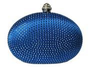 Chicastic Royal Blue Rhinestone Crystal Mini Hard Mini Wedding Clutch Bag