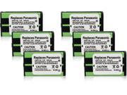 New Replacement Battery For Panasonic HHR-P104 Cordless Phones 6 Pack