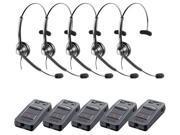 Jabra BIZ 1900 Mono Headset W/ Link 850 (5-Pack)
