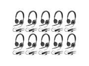 Plantronics Blackwire C520-M (10-Pack) Stereo Corded Headset