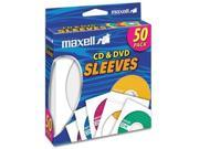 maxell T37885W MaxellBlank Media CD DVD Paper Sleeves 50