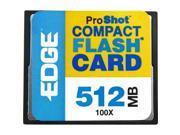 EDGE Tech 512MB ProShot CompactFlash Card - 100x