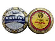Rawleigh 2 pack of Natural Medicated Ointment and Antiseptic Salve 1 5oz Tin of Each