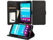 for LG G Stylo / LG G4 Stylus / LG LS770 - Wallet Case Flip Cover with Stand, Credit Card ID Slots, Currency Pocket - Black PU Leather