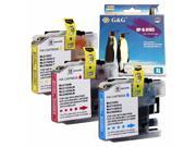 3-PACK (Color Set) Compatible Brother LC105 XXL Super High Yield (Cyan,Magenta,Yellow) Ink Cartridges for MFC J4310DW J4410DW J4510DW J4610DW J4710DW J6520DW J6720DW J6920DW Inkjet Printer