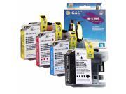 4-PACK (1 Set) Compatible Brother LC107 / LC105 XXL Super High Yield (Black,Cyan,Magenta,Yellow) Ink Cartridges MFC-J4310DW, MFC-J4410DW, MFC-J4510DW, MFC-J4610DW, MFC-J4710DW Inkjet Printer