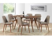 Baxton Studio Lavin Mid-Century Dark Walnut Wood 7PC Dining Set