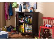 Baxton Studio Sintra Modern and Contemporary Dark Brown Sideboard Storage Cabinet with Glass Doors