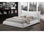 Baxton Studio Corie White Modern Platform Bed - Queen Size
