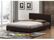 Pless Dark Brown Modern Bed - Queen Size