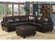 Baxton Studio Hammond Brown Leather Modern Sectional Sofa