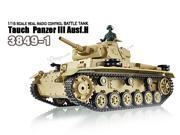 Heng Long Airsoft 1/16 TauchPanzer III RC Battle Tank w/ Smoke, Sound and Lighting