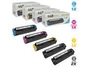LD © Compatible Canon 118 Set of 5 Toner Cartridges Includes: 2 2662B001AA Black, 1 2661B001AA Cyan, 1 2660B001AA Magenta, and 1 2659B001AA Yellow