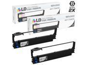 LD © Compatible Okidata 44173403 Set of 2 Black Printer Ribbon Cartridges for use in Okidata Microline 620, 690, and 5720