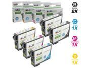 LD Epson Remanufactured T200XL / T200 Set of 5 High Yield Ink Cartridges: Includes 2 Black T200XL120, 1 Cyan T200XL220, 1 Magenta T200XL320, & 1 Yellow T200XL42
