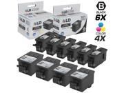 LD Compatible Replacement for Kodak 30XL / 30 10Pk HY Ink Cartridges Includes:6 1550532 Black & 4 1341080 Color for use in ESP C110, C310, C315, Office 2150, Of