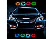 1 Meter Flexible Car Decorative Neon Light 2.3mm EL Wire Rope with Car Light Inverter, White