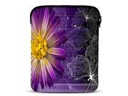 Purple Daisy Neoprene Tablet Sleeve Case for 10