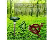 Outdoor Safe Harmless Solar Power Multi-Pulse Snake Mole Repeller , Green