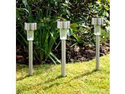 0.6W solar lawn light stainless steel LED outdoor garden lights