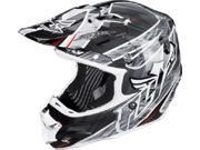 FLY F2 Carbon Acetylene Helmet- [Black/White] (XL-Large) [73-4051XL]